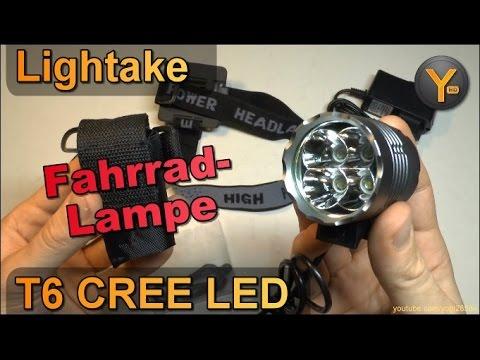 Lightake 4T6 XML CREE LED Fahrrad-Lampe / Kopf-Lampe mit 4x Superhellen LEDs / 4800mAh Akku
