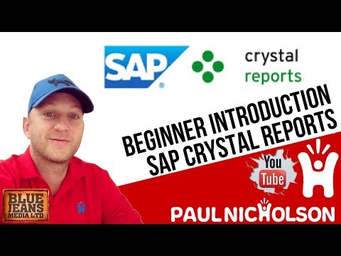 Crystal Report Beginner Training Tutorial 2017 - An Introduction To ...