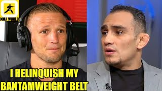 TJ Dillashaw has been suspended for 1 year after adverse USADA Findings,Tony Ferguson gets help