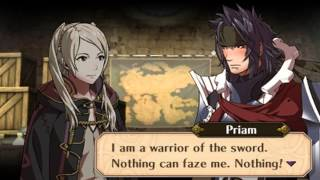Fire Emblem Awakening - Female Avatar (My Unit) & Priam Support Conversations
