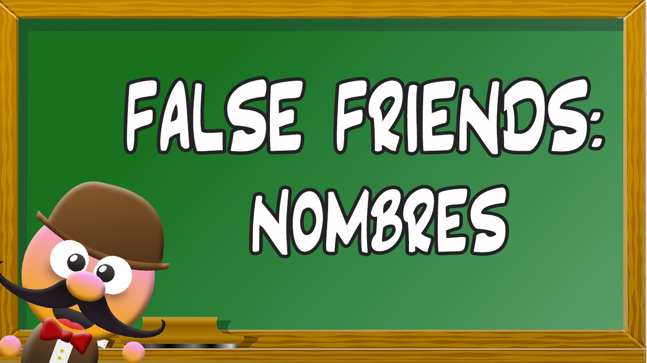 INGLÉS PARA NIÑOS CON MR PEA [ENGLISH FOR KIDS]- FALSE FRIENDS (NOMBRES)