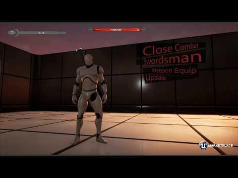 UE4] Marketplace - Close Combat: Swordsman - смотреть онлайн на Hah Life