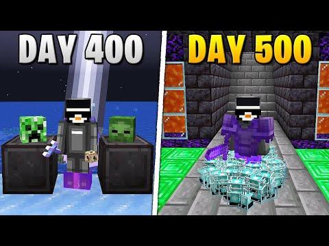 I Survived 500 Days in HARDCORE Minecraft...