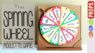 THE ROULETTE GAME_How to make a spinning wheel out of cardboard   Edu Props
