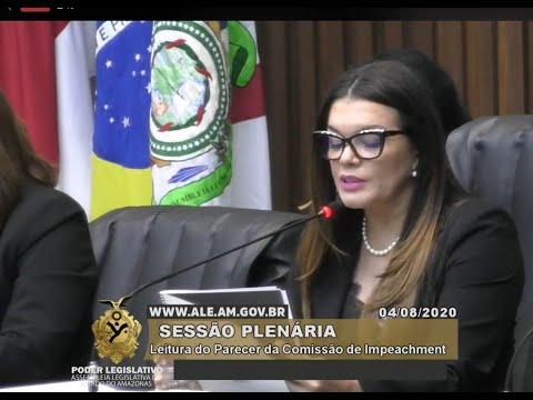 Comissão especial lê o parecer que livra a pele de Wilson Lima do impeachment