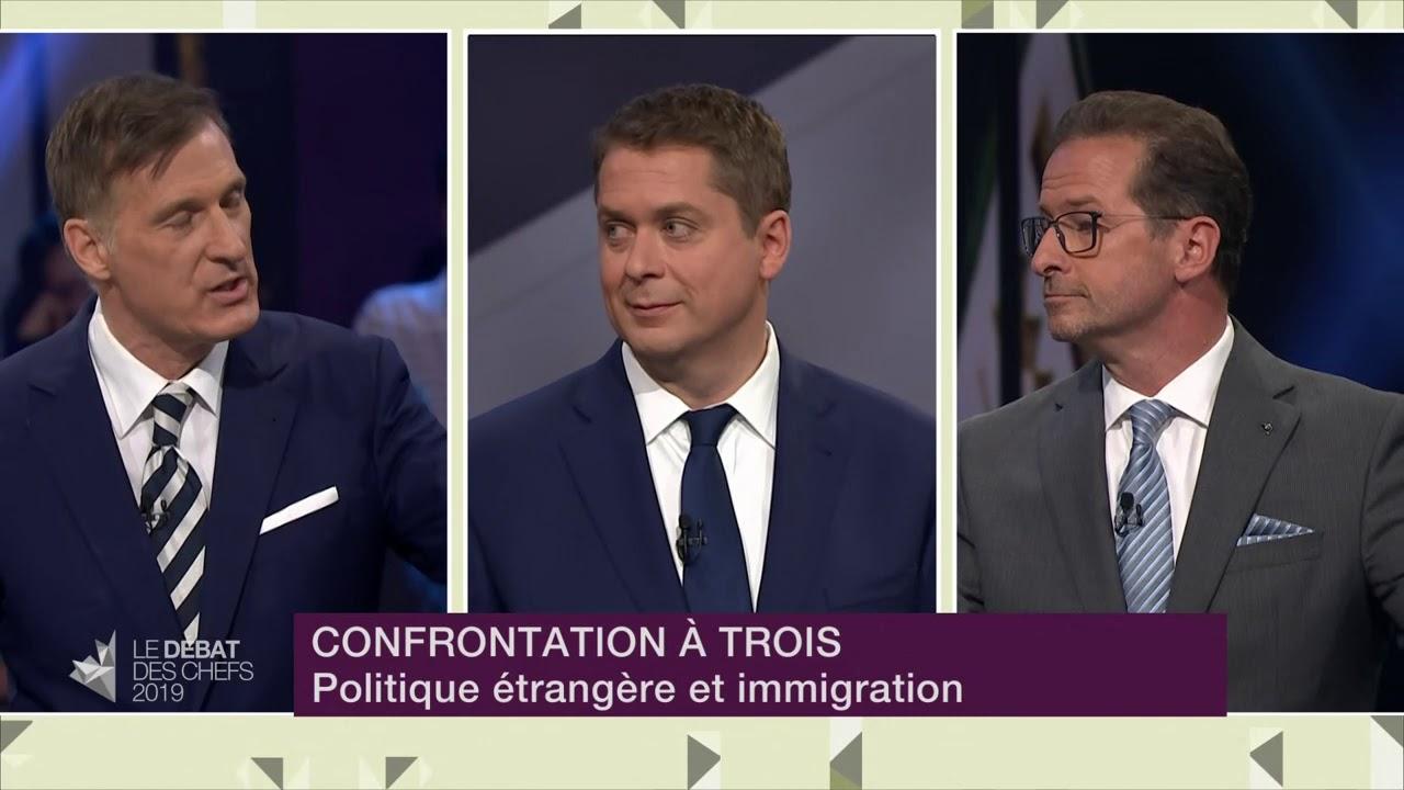 Yves-François Blanchet, Maxime Bernier et Andrew Scheer débattent sur la Chine et l'immigration