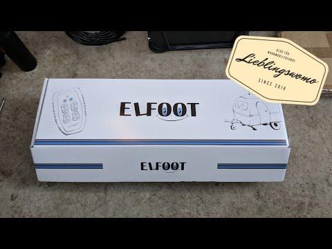 Automatische Stützen von ELFOOT am Wohnwagen
