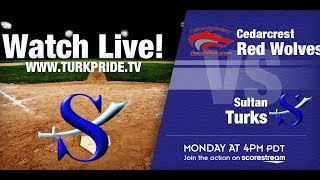Girl's Softball - Sultan vs Cedarcrest