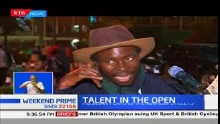 Musician belts out famous tunes in the Nairobi streets