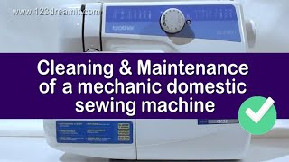 Cleaning & Maintenance of a mechanic domestic sewing machine - with a vertical bobbin case