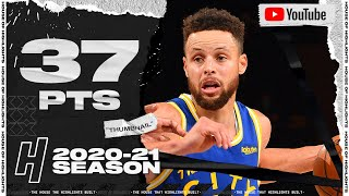 Stephen Curry 37 Points Full Highlights - Warriors vs Knicks | February 23, 2021