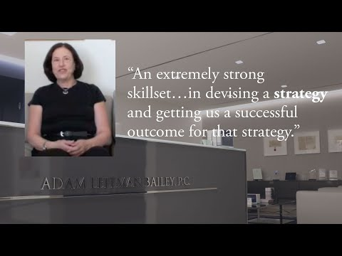 """""""An extremely strong skillset…in devising a strategy and getting us a successful outcome for that strategy."""" testimonial video thumbnail"""