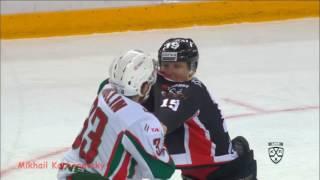 Драка КХЛ Юньков Михаил - Яруллин Альберт Fight KHL Yunkov Mikhail vs Yarullin Albert
