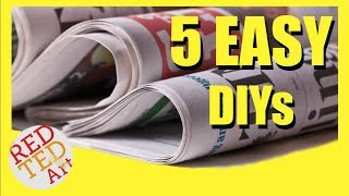 5 DIY Creative Ideas With Newspapers - Newspaper DIYs & Hacks - Best From Waste