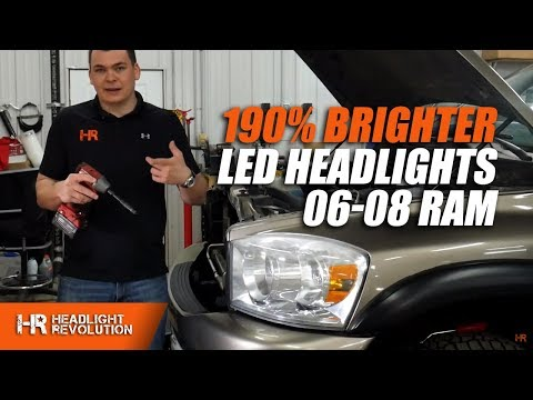 190% BRIGHTER HEADLIGHTS! 06-08 Ram LED Headlight And LED Turn Signal Bulbs Install Mp3