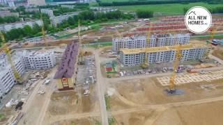 Жилой комплекс «Фламинго» Новосибирск. Съемки с воздуха