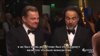 Леонардо ДиКаприо прокомментировал свою речь на Оскаре(рус суб)/ DiCaprio commented on his speech