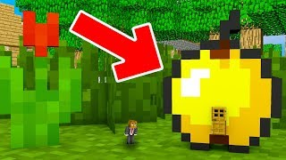 HOW TO LIVE INSIDE A GOLDEN APPLES IN MINECRAFT!