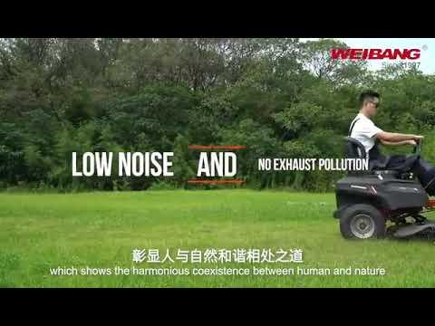 Weibang WB Z 106E AKU ZERO-TURM akumulátorový traktor s pojezdem