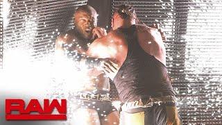 Braun Strowman drives Bobby Lashley through the LED wall: Raw, July 1, 2019