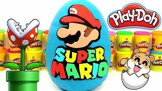 Huevo Sorpresa Gigante De Super Mario Bros De Plastilina Play Doh En Español - Con Eva Y Lina