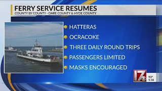 NC ferry service restarts for Outer Banks