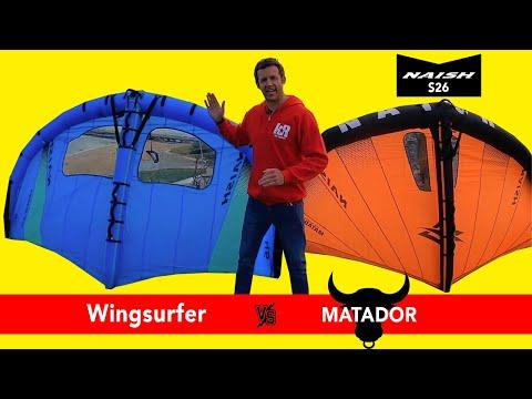 Naish Matador vs Wingsurfer S26