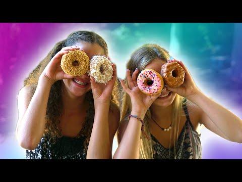 Donut Challenge!  (Gracie Haschak vs Liv)