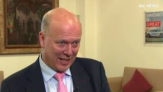 Carillion collapse: Chris Grayling defends role in handing company contracts | ITV News