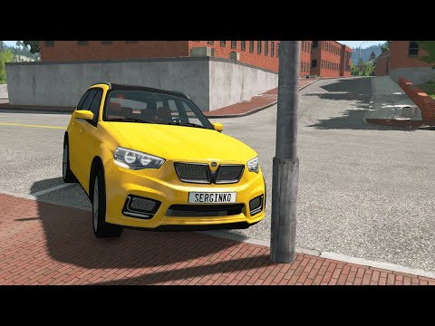 Loss of Control Car Crashes 12 - BeamNG Drive