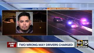 Impaired wrong-way drivers arrested, identified