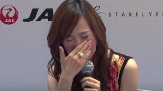 森口博子、飛行機で号泣!「みんなでZガンダム大合唱」「空行け!九州キャンペーン」発足式3