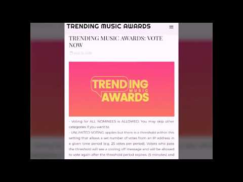 Trending Music  Awards  Current Ranking