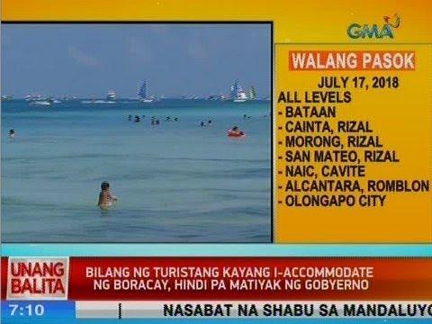 [GMA]  UB: Bilang ng turistang kayang i-accommodate ng Boracay, hindi pa matiyak ng gobyerno