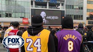 Fans mourn Kobe Bryant's tragic passing outside of Staples Center   FOX SPORTS
