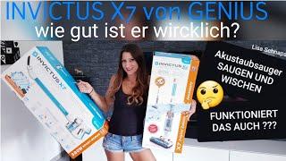 INVICTUS X7 von GENIUS | X - WATER | Saugen und Wischen | Akku Staubsauger | Unboxing |