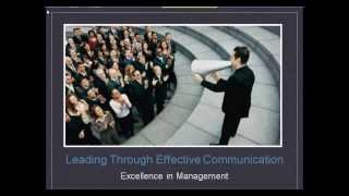 Excellence in Management: Effective Communication
