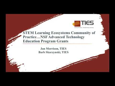 August 2018 Pop-Up Webinar – Upcoming NSF Advanced Technological Education Proposal