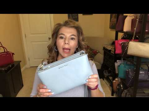 Michael Kors What's in my bag + review Mercer wallet Adele Leather Crossbody Selma