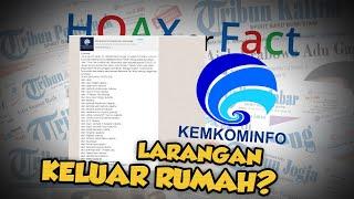 Hoax or Fact: Beredar Kabar Larangan Warga DKI Jakarta Keluar Rumah karena Corona