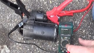 How To Test Your Starter Motor & Solenoid   Starter Troubleshooting