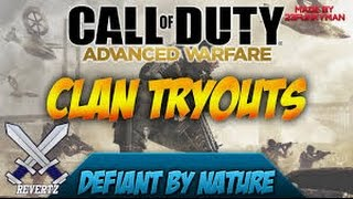 Call Of Duty Advanced Warfare Clan Tryouts!! How To Join DBN, Clan Wars, & More