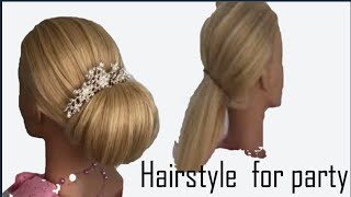 Messy Bun Hairstyle For Saree |  Easy Hairstyles | Wedding Hairstyles