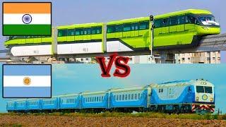 Indian Railways vs Argentinean Railways Comparison
