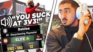 90% Win Playsharp says I will NEVER beat him on 3v3 in NBA2K19 (BEST OF 3)