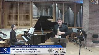 Marton BUBREG plays Sonate by E. Denisov #adolphesax