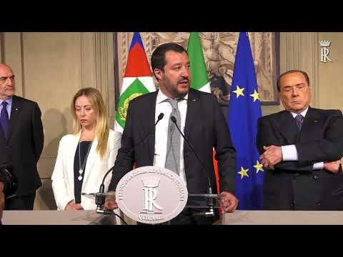 CONSULTAZIONI GOVERNO : DICHIARAZIONI DI LEGA - FORZA ITALIA - FRATELLI D' ITALIA
