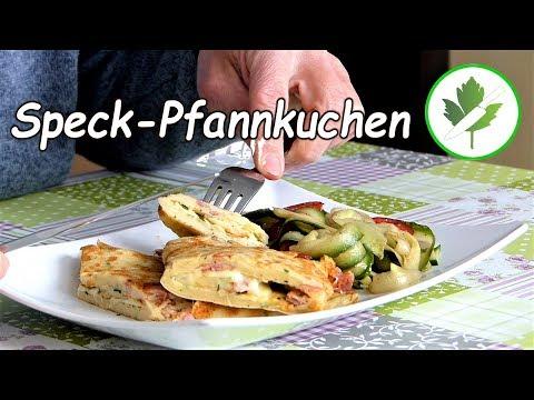 15 Minuten Küche - Rustikaler Speck-Pfannkuchen /schnelle Rezepte #günstig