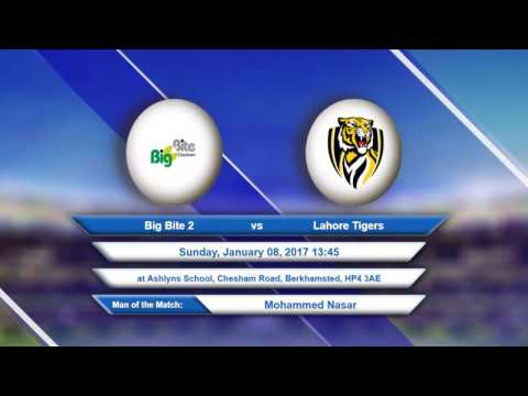 Video Big Bite 2 VS Lahore Tigers - 08-Jan-2017