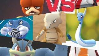 Hitmonlee  - (Pokémon) - Pokémon GO Gym Battles Dragonair Marowak Poliwrath Hitmonlee & more!